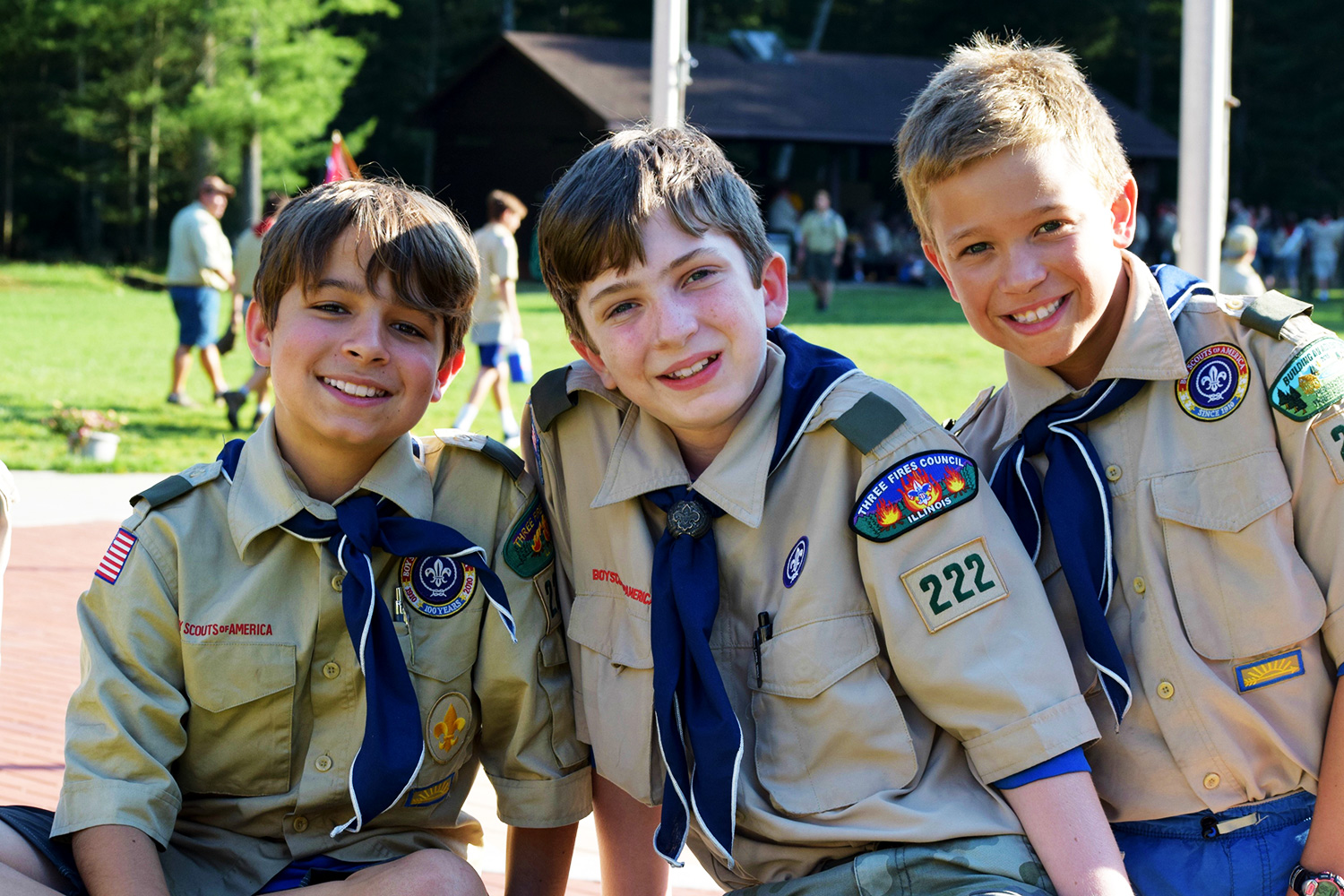 Boy Scouts at the Cathedral of St. Joseph