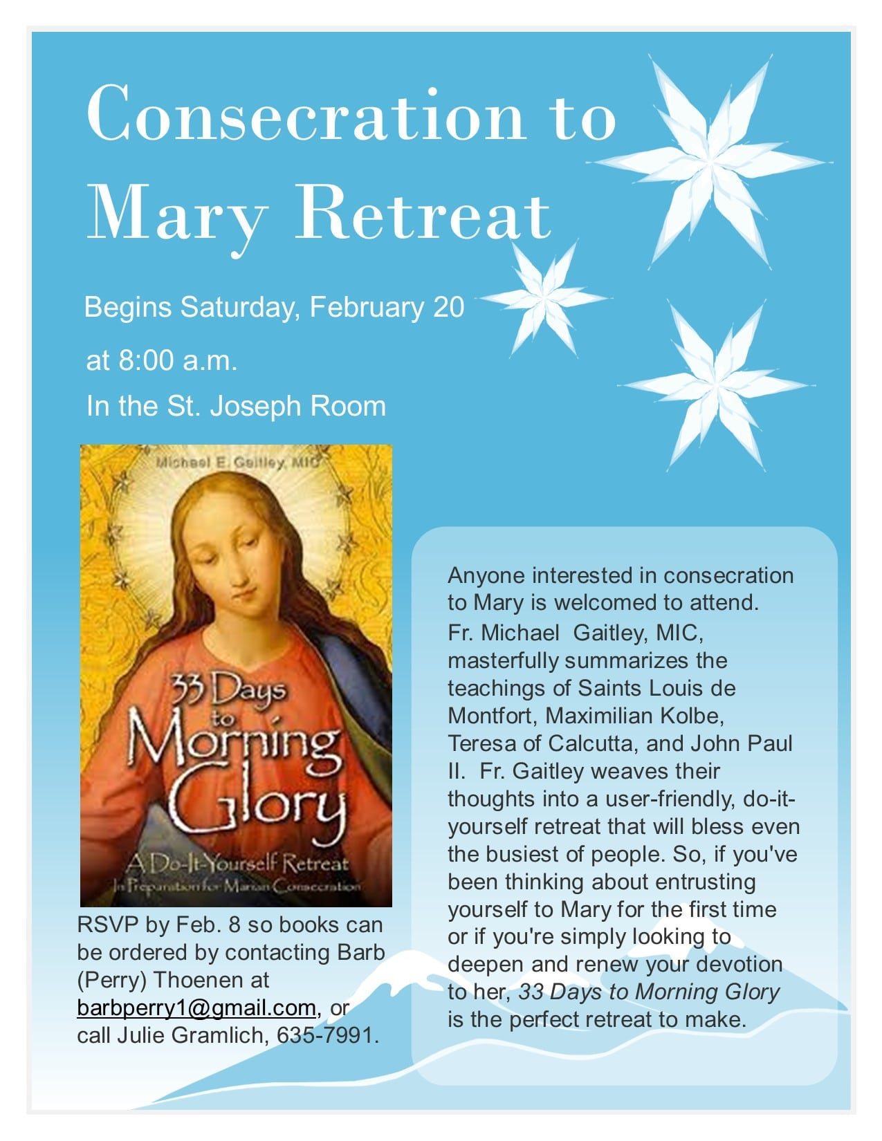33 Days To Morning Glory Retreat